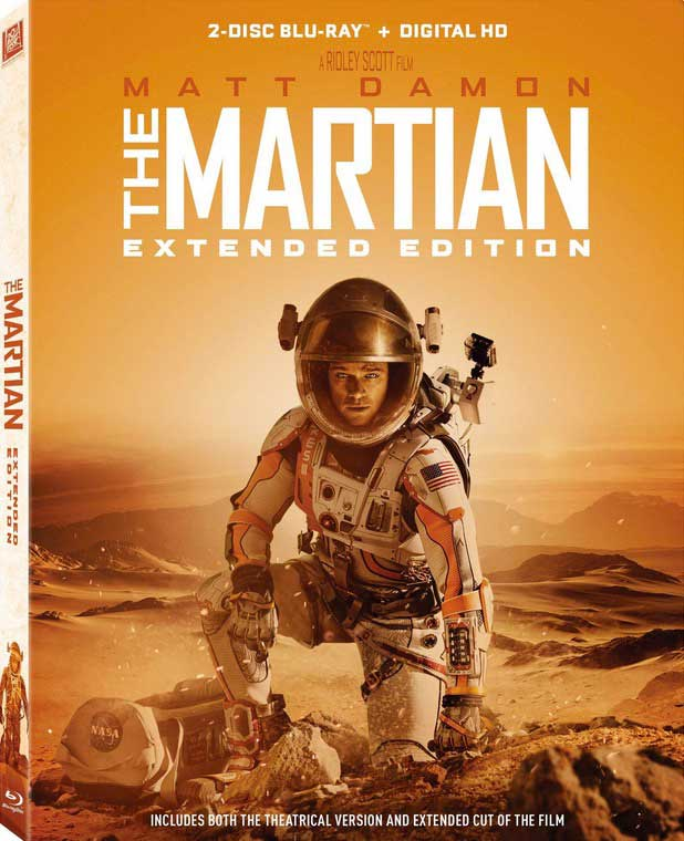 The Martian Extended Edition Blu-Ray Box Cover Art