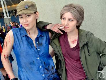WonderCon 2016 Cosplay Funny Outtakes 10 Rosita Carol Walking Dead