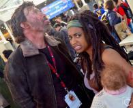 WonderCon 2016 Cosplay Funny Outtakes 102 Rick Michonne Walking Dead