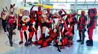 WonderCon 2016 Cosplay Funny Outtakes 52 Deadpool Group