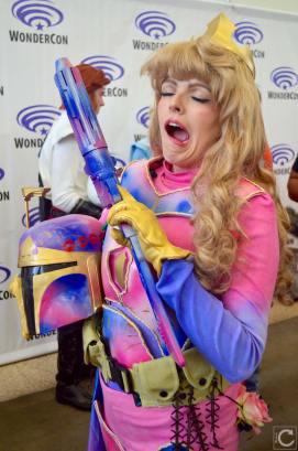 WonderCon 2016 Cosplay Funny Outtakes 59 Princess Aurora Boba Fett