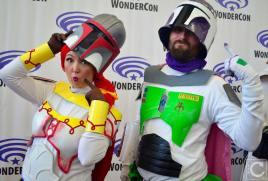 WonderCon 2016 Cosplay Funny Outtakes 60 Jessie Buzz Lightyear Boba Fett