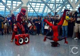 WonderCon Cosplay Saturday 2016 200 Red Hip Hop Trooper Deadpool Break Dancing