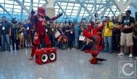WonderCon Cosplay Saturday 2016 202 Red Hip Hop Trooper Break Dancing Deadpool
