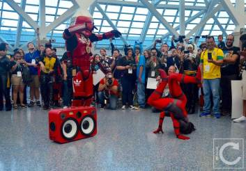 WonderCon Cosplay Saturday 2016 204 Dance Battle Red Hip Hop Trooper Deadpool