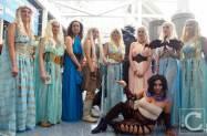WonderCon Cosplay Saturday 2016 96 Game of Thrones Daenerys Targaryen Group