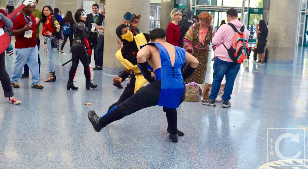 WonderCon Cosplay Sunday 2016 106 Mortal Kombat Sub-Zero Scorpion