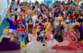 WonderCon Cosplay Sunday 2016 42 Disney Characters Group