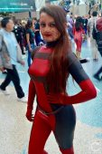 WonderCon Cosplay Sunday 2016 87 Lady Deadpool Mask Off