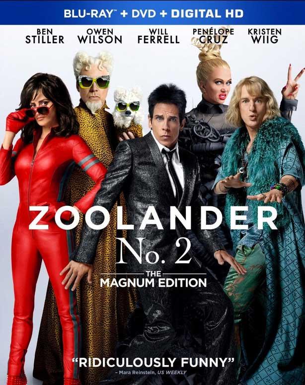 Zoolander 2 Blu-ray Box Cover Art