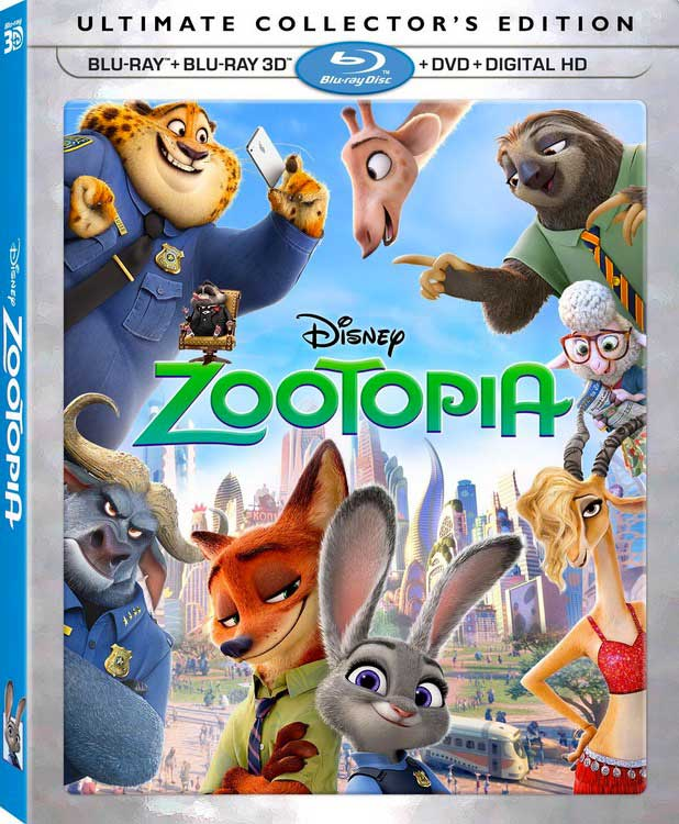Zootopia Blu-Ray Box Cover Art