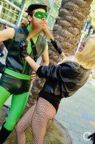 WonderCon 2017 Cosplay Funny Arrow and Black Canary