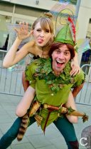 WonderCon 2017 Cosplay Funny Peter Pan and Tinkerbell