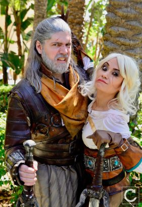 WonderCon 2017 Cosplay Funny The Witcher Geralt and Ciri