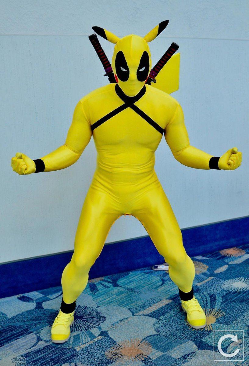 WonderCon 2017 Cosplay Pikachu Deadpool