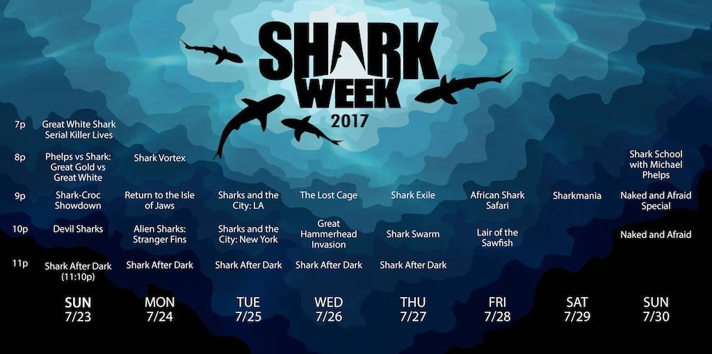 Shark Week 2017 Programming Schedule