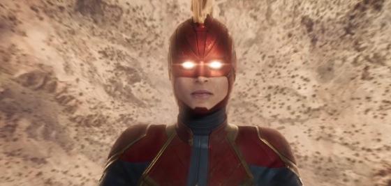 Captain Marvel Brie Larson Blu-ray Box Art